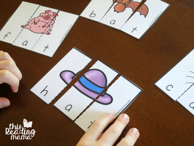 AT Word Family Puzzles from Learn to Read