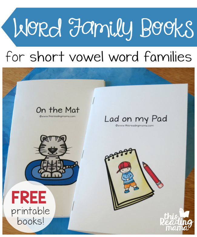 FREE Printable Word Family Books for Short Vowels - This