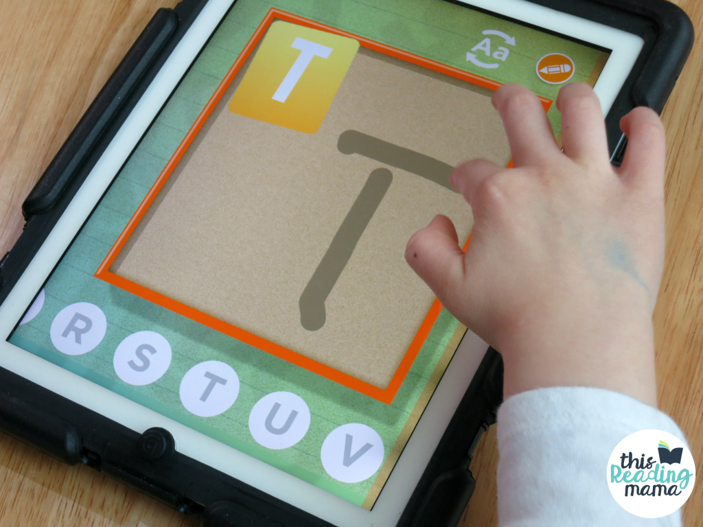Free Practice with Letter Writing for upper and lowercase letters