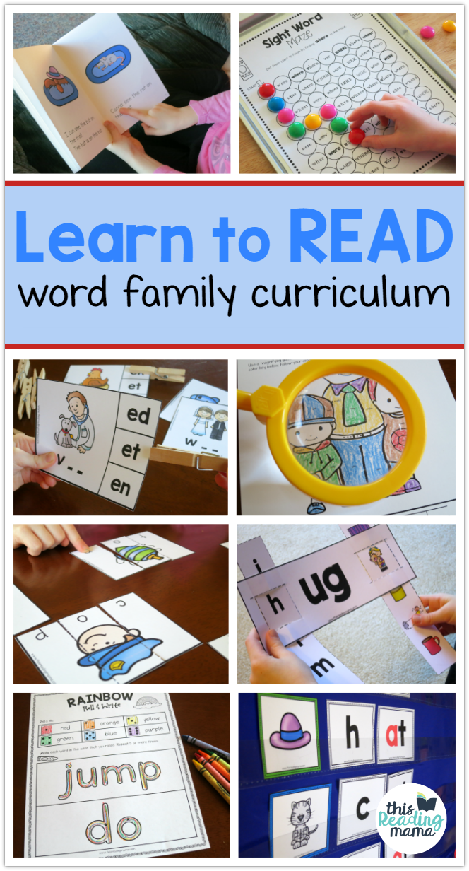 Word Family Reading Curriculum