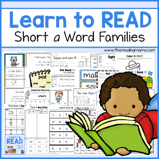 Learn to Read Short a Word Families - sidebar