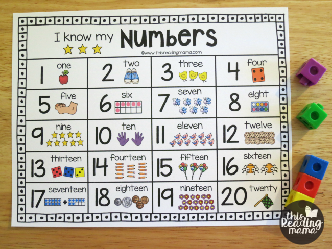 graphic about Free Printable Number Chart known as Printable Range Chart for Figures 1-20 - This Looking at Mama