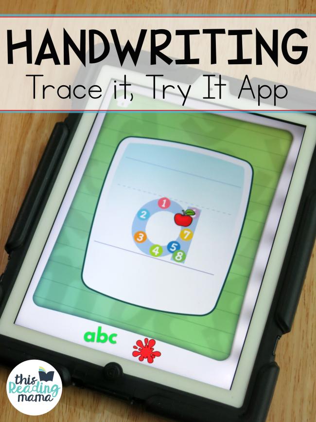 Trace It, Try It Handwriting App