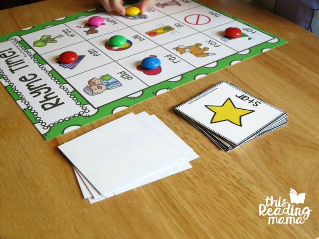 covering rhyme time game board