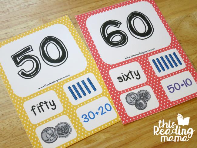 level 3 number cards 10-100
