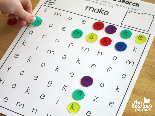 making word searches more interactive