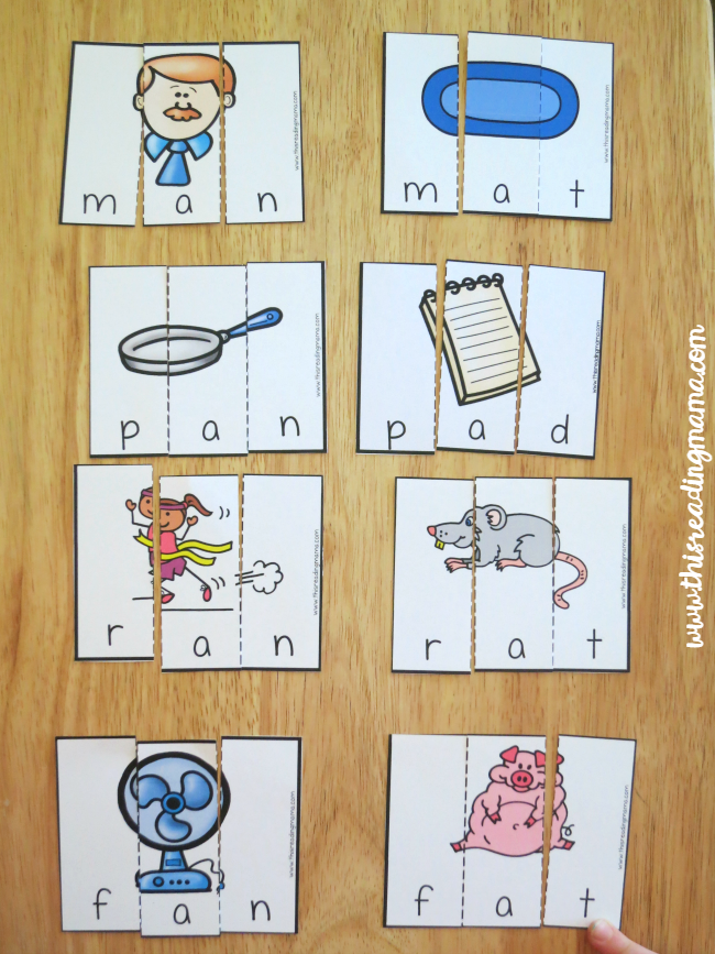 AN word family puzzles and review short a family puzzles