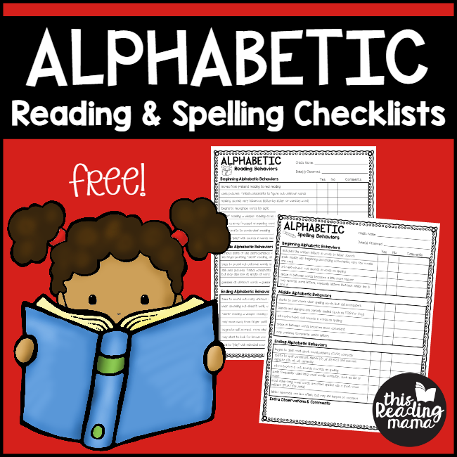 FREE Alphabet Stage Reading and Spelling Checklists - This Reading Mama