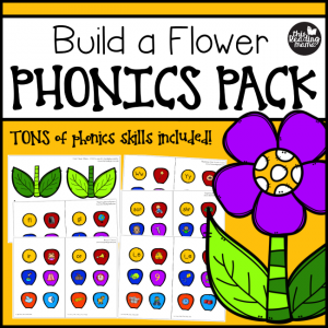 Build a Flower Phonics Pack by This Reading Mama