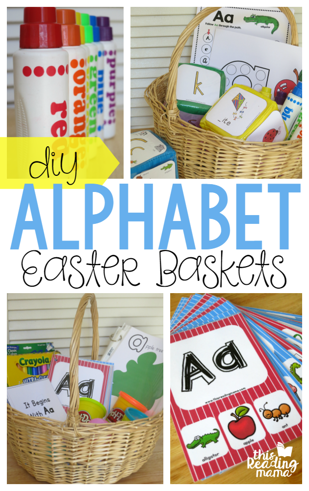 DIY Alphabet Easter Baskets using FREE Printables - This Reading Mama