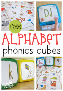 FREE Alphabet Phonics Cubes – 2 levels of play!