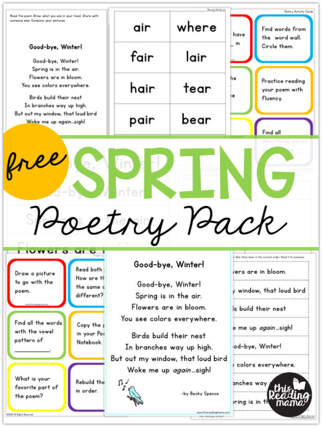 FREE Spring Poetry Pack - This Reading Mama
