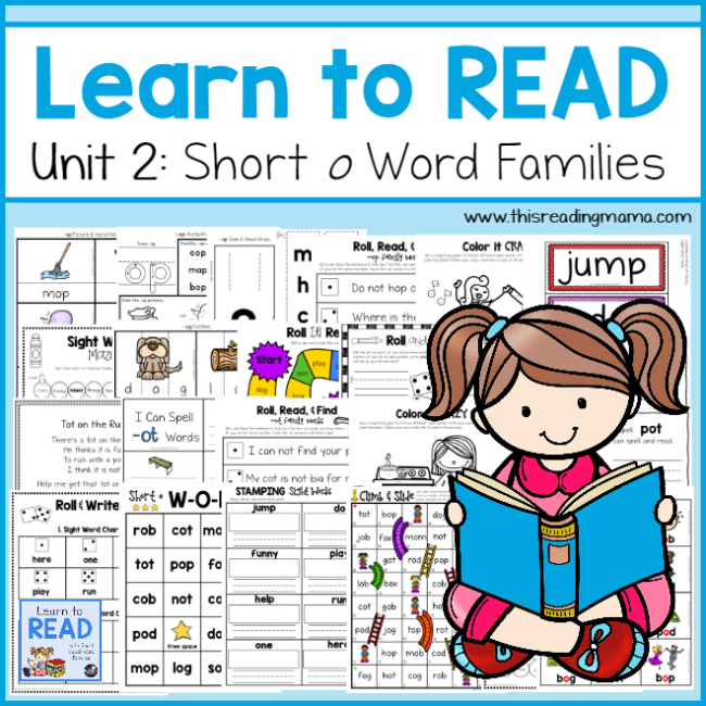 Learn to Read Unit 2 - Short o Word Families