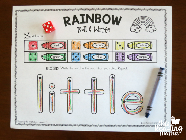 editable rainbow roll write my name this reading mama
