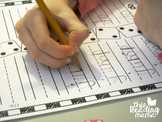 roll and race sight word activity from Learn to Read - lesson 5