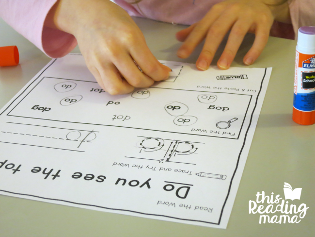 sight word activity page with do from Learn to Read