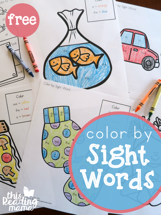 FREE Sight Word Coloring Pages for Lessons 1-14 of Reading The Alphabet - This Reading Mama