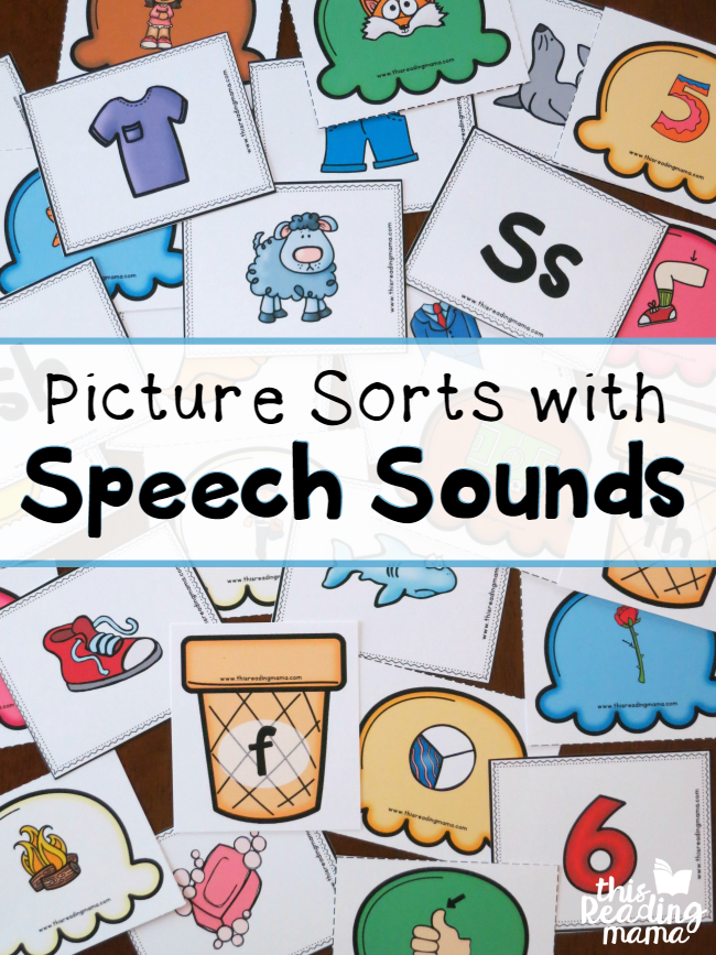 FREE Picture Sorts with Speech Sounds - This Reading Mama