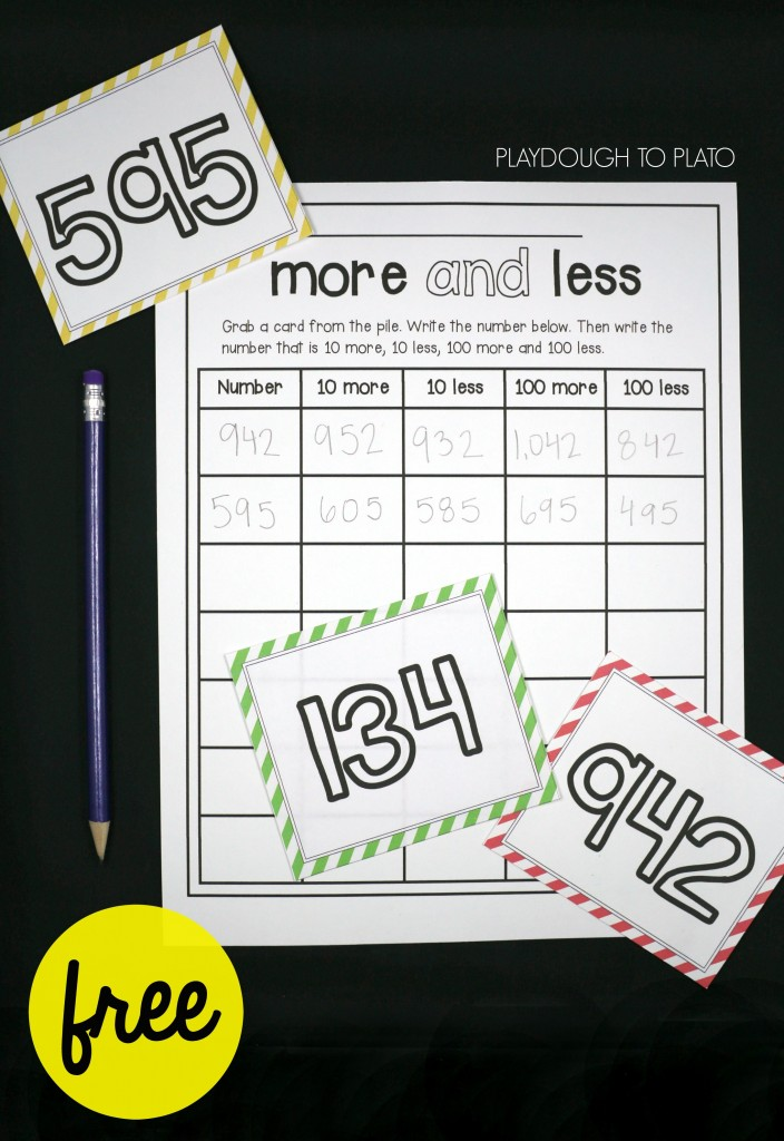 Free number sense activity for kids!