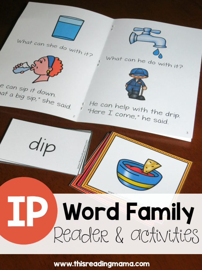 Learn To Read IP Word Family Reader & Activities