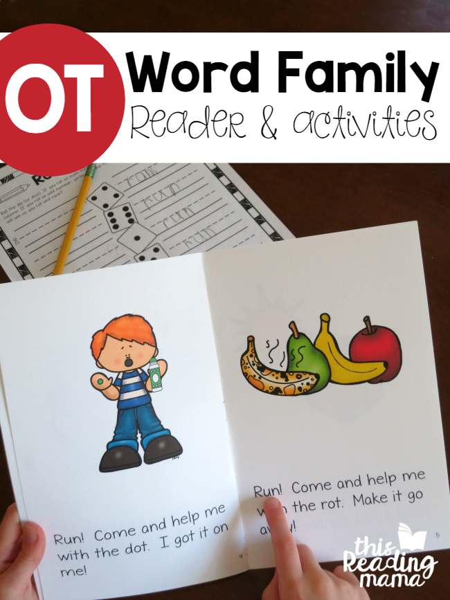 OT Word Family Reader and Activities - free - This Reading Mama