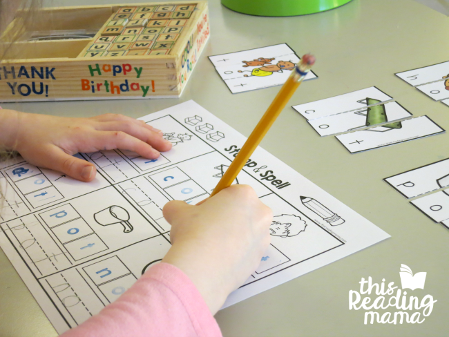 OT Word Family Stamp and Spell from Learn to Read