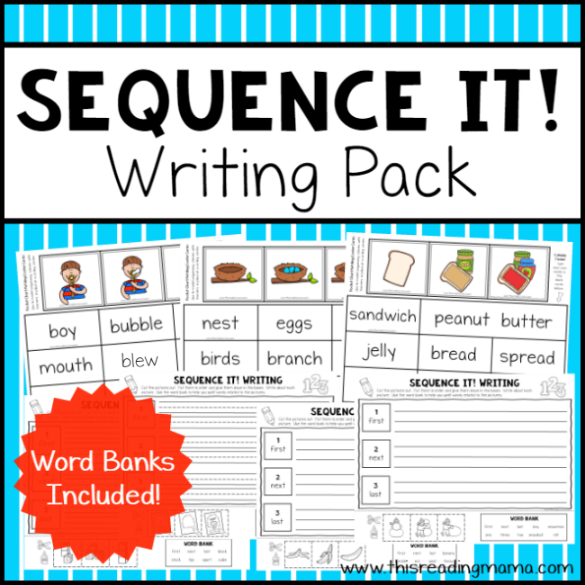 Sequence Writing Pack - Sequence It from This Reading Mama