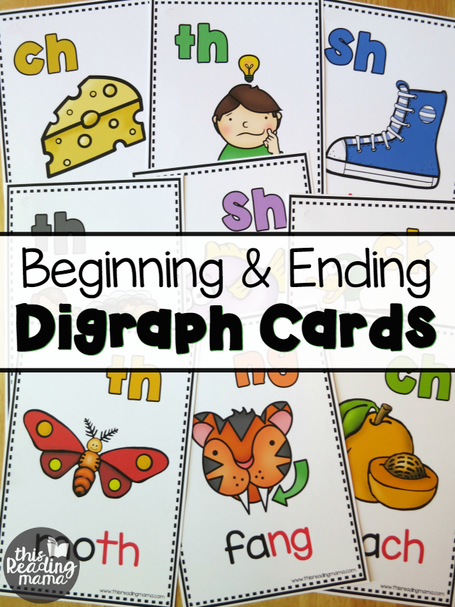 Elegant FREE Beginning And Ending Digraph Cards   This Reading Mama