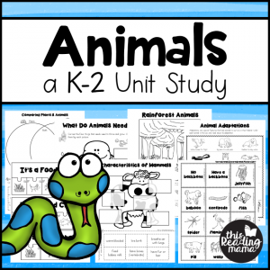 Animals Unit Study for K-2 Learners - This Reading Mama