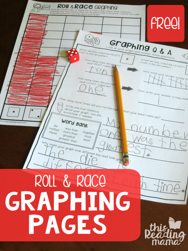 Roll and Race Graphing Worksheets