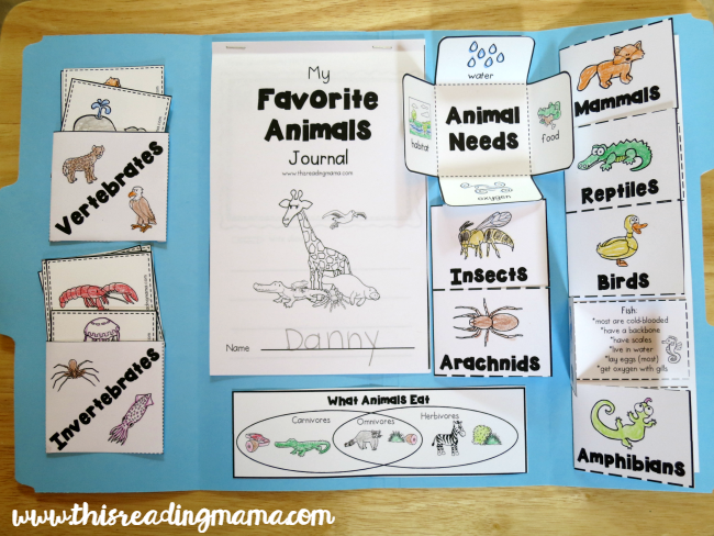 Interactive Notebook About Animals - This Reading Mama