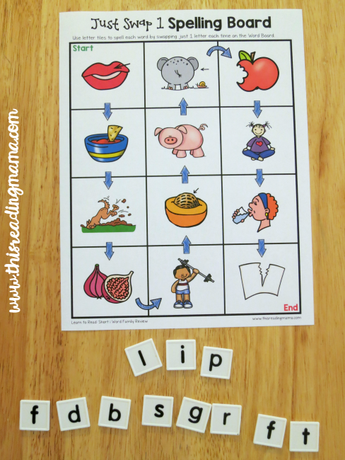 Just Swap 1 - Short i Word Families Review Game
