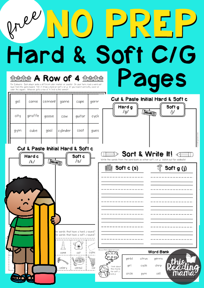 NO PREP Hard and Soft C and G Pages