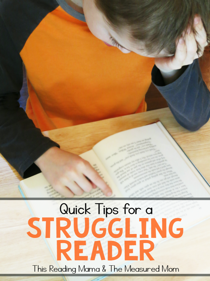 Quick Tips for a Struggling Reader -a series from This Reading Mama & The Measured Mom