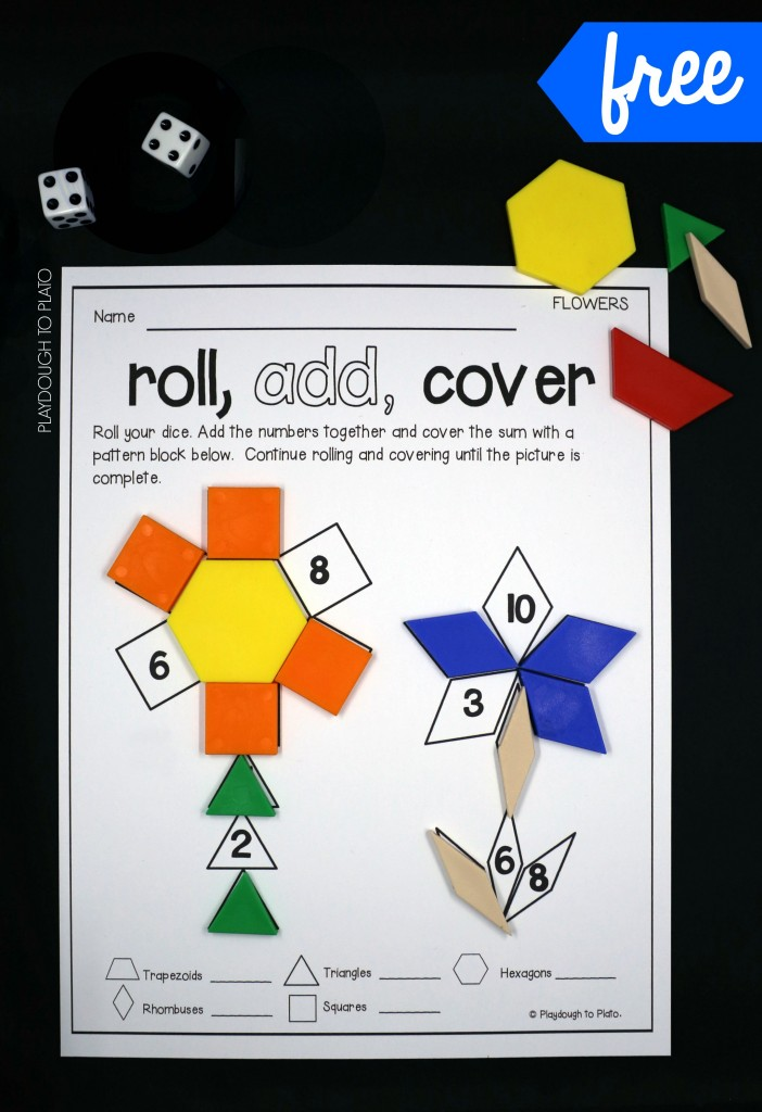 Roll and Cover Shape Game!