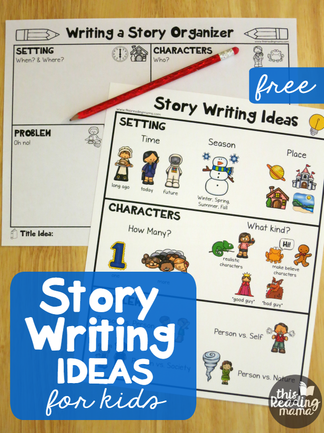 story writing ideas for kids free printable pack this reading mama