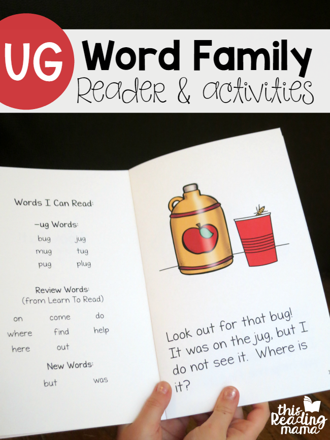 UG Word Family Reader and Activities - This Reading Mama