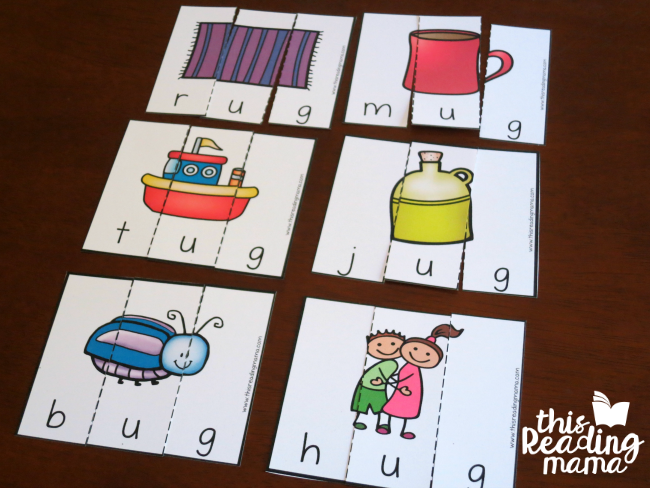 UG word family puzzles - free from Learn to Read