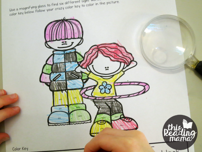 color it crazy page from Learn to Read - Lesson 10