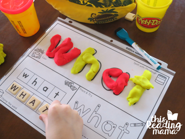 sight word activity mat from Learn to Read