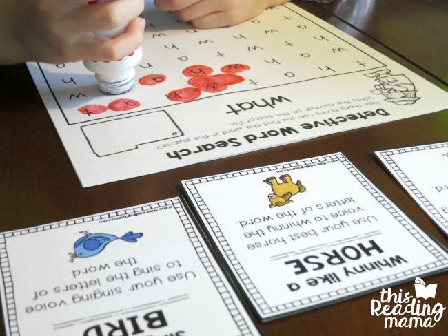 sight word search from Learn to Read (what)
