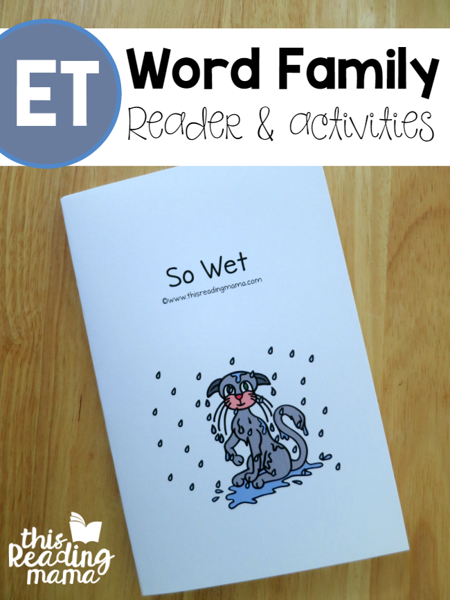 ET Word Family Reader and Activities from Learn to Read - This Reading Mama