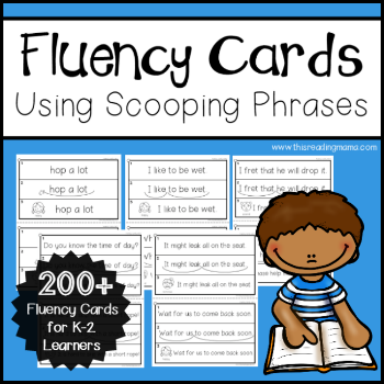 K-2 Fluency Cards Using Scooping Phrases 350 - This Reading Mama