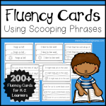 K-2 Fluency Cards Using Scooping Phrases - This Reading Mama