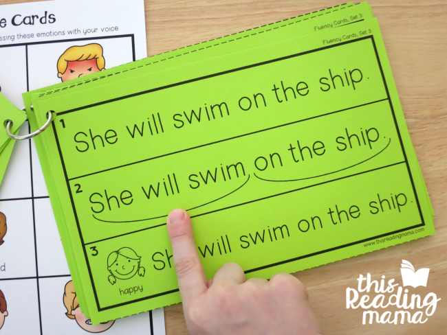 K-2 Fluency Cards with Scooping Phrases - This Reading Mama