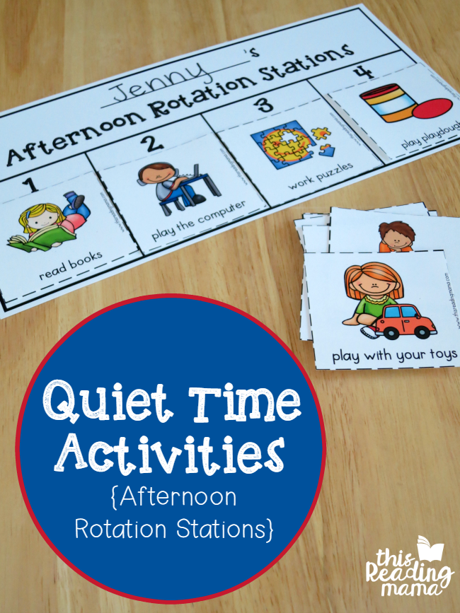 Quiet Time Activities - Afternoon Rotation Stations - This Reading Mama