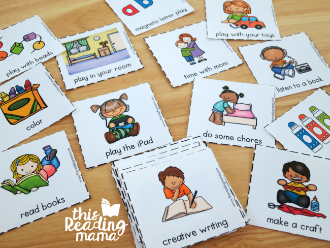 quiet time activity cards for afternoon rotation stations
