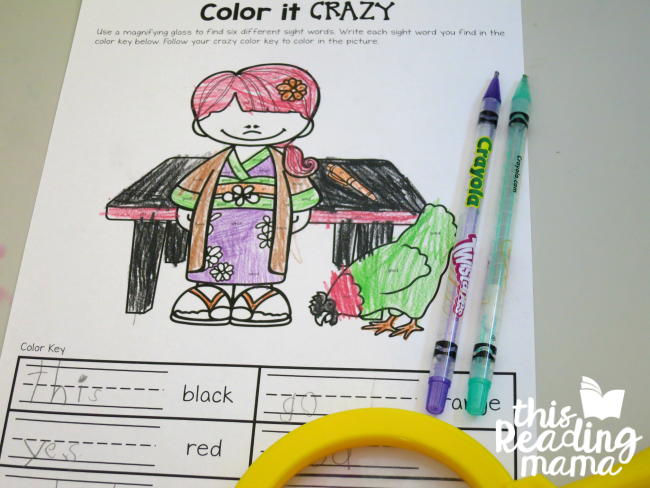 Color it CRAZY from EN Family- Learn to Read