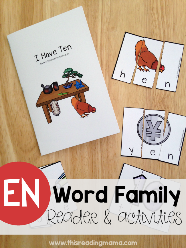 Learn to Read EN Word Family Reader & Activities