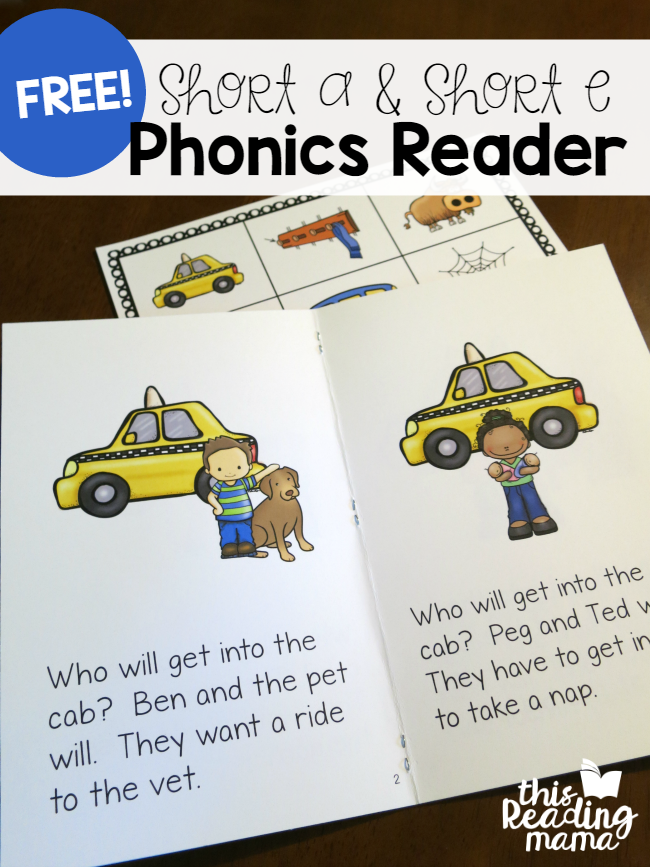 Learn to Read - Short a - Short e Phonics Reader - This Reading Mama